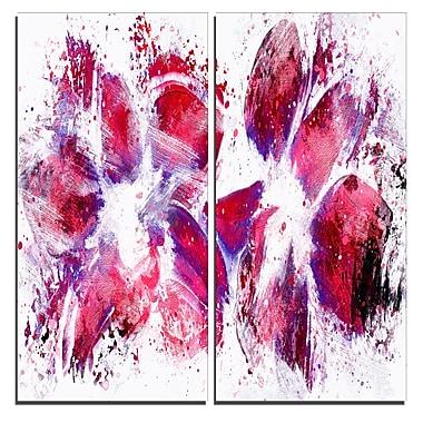 Designart – Impression sur toile, tulipes, art abstrait, 40 larg. x 40 haut. (po), 2 panneaux (PT3404-40-40)