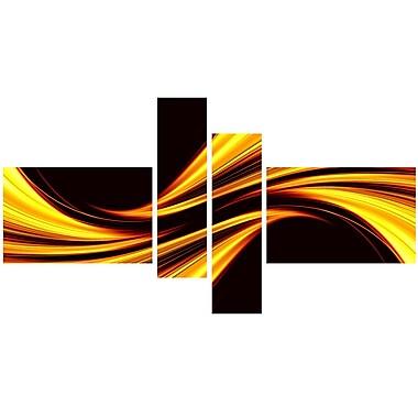 Designart – Toile étirée sur les bords, Calme jaune (PT3019-279)