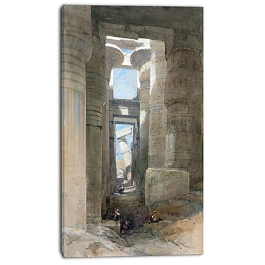 Designart David Roberts, The Great Temple of Amon Karnakll Canvas Art Print, 3 Panels, (PT4293-16-32)