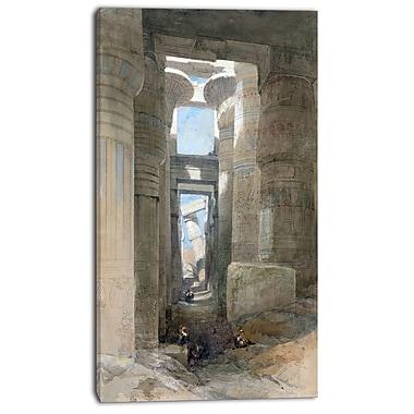 Designart – Imprimé sur toile, Le grand temple d'Amon à Karnak de David Roberts, 3 panneaux (PT4293-20-40)