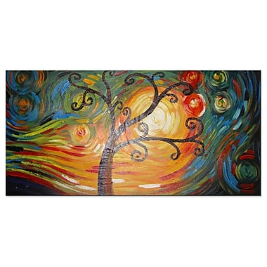 Designart – Arbre merveilleux, toile peinte à la main, (OL374S)