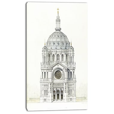 Designart Victor Baltard, Church of Saint Augustin Canvas Art Print, 3 Panels, (PT4987-16-32)