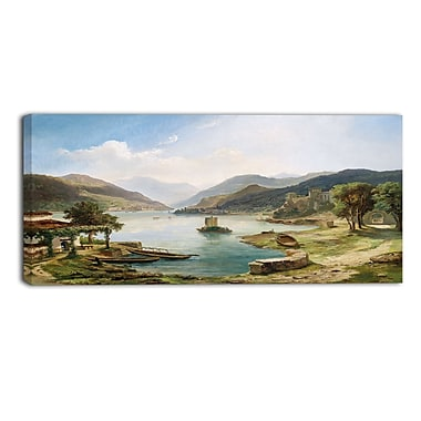 Designart Tranquil Villas Around the Lake Canvas Art Print, (PT4001-32-16)