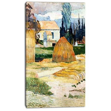 Designart Paul Gauguin, Landscape near Arles Canvas Art Print, 3 Panels, (PT4409-20-40)