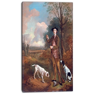 Designart Thomas Gainsborouh, Major John Dade Canvas Art Print, 3 Panels, (PT4950-16-32)