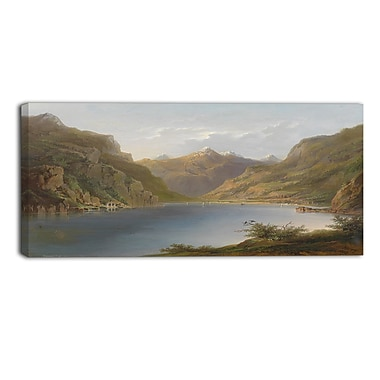 Designart Calm Waters Nature Scene Canvas Art Print, (PT4009-32-16)