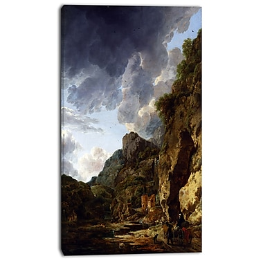 Designart Herman Nauwincx, Mountain Landscape Canvas Art Print, 3 Panels, (PT4504-20-40)