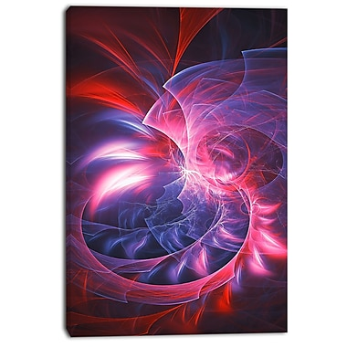 Designart Spiral Into Oblivion Street Art Canvas Artwork, (PT3605-24-40)