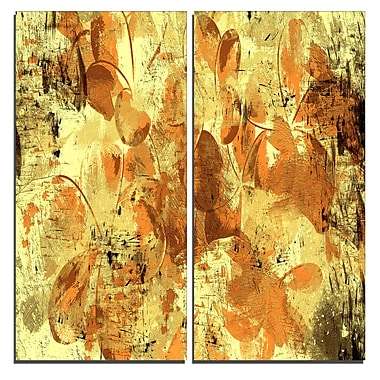 Designart Orange Yellow Flower Petals Canvas Art Print, 40