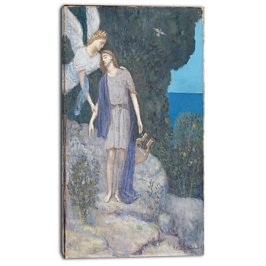 Designart Pierre C. Puvis de Chavannes, The Poet Canvas Art Print, 3 Panels, (PT4848-16-32)