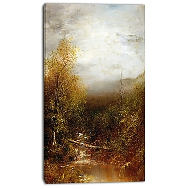 Designart Ralph Albert Blakelock, Pool in the Adirondacks Canvas Art Print, 3 Panels, (PT4181-20-40)