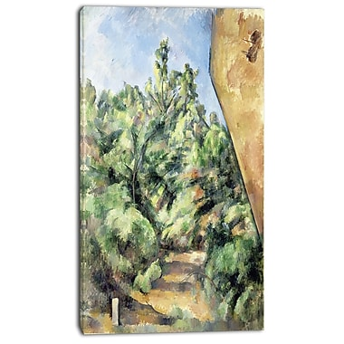 Designart Paul Cezanne, The Red Rock Canvas Art Print, 3 Panels, (PT4771-20-40)