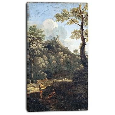 Designart – Imprimé sur toile, Les filles de la comtesse Anne de Montmorency, Gaspard Dughet, 3 panneaux (PT4304-20-40)