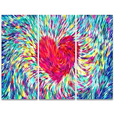 Designart Pastel Heart 3-Panel Sensual Canvas Art Print, (PT2932-36 - 28)