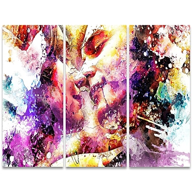 Designart First Of Many 3-Panel Sensual Canvas Art Print, (PT2901-36 - 28)