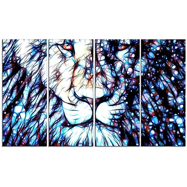 Designart Leader of the Pack 4-Panel Canvas Art Print, (PT2406-271)