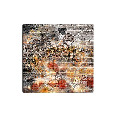 Design Art – Art urbain sur toile, combat, orange