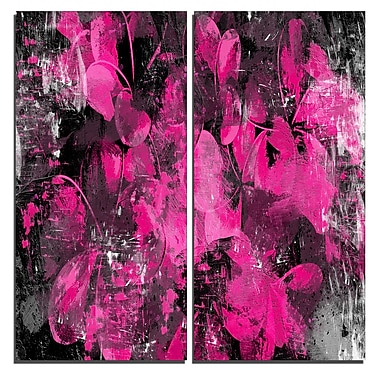 Designart Pink Flower Petals Canvas Art Print, 40