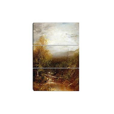 Designart Ralph Albert Blakelock, Pool in the Adirondacks Canvas Art Print, 3 Panels, (PT4181-3P)