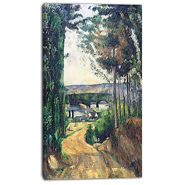Designart Paul Cezanne, Road Leading to the Lake Canvas Art Print, 3 Panels, (PT4772-20-40)