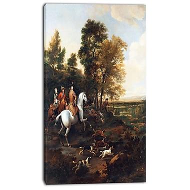 Designart – Jan Wyck, chasse au lièvre, imprimé sur toile, 3 panneaux (PT4558-20-40)