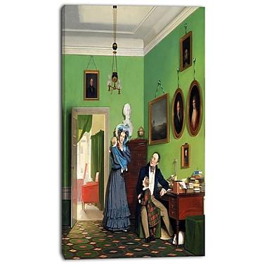 Designart Wilhelm Bendz, The Waagepetersen Family Canvas Art Print, (PT4993-16-32)