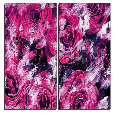 Designart Pink Rose Garden Canvas Art Print, 40