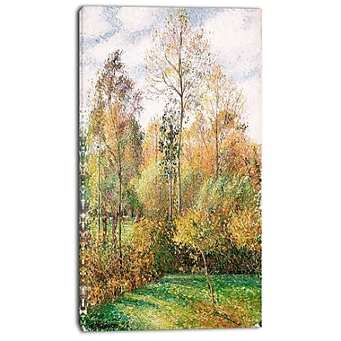 Designart Camille Pissarro, Autumn, Poplars, Eragny Canvas Art Print, 3 Panels, (PT4188-16-32)