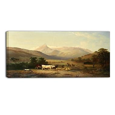 Designart – Une journée au ranch, imprimé sur toile (PT4012-32-16)