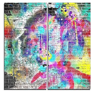 Designart – Œuvre d'art de rue sur toile, amour pour la ville (PT3637-40-40)