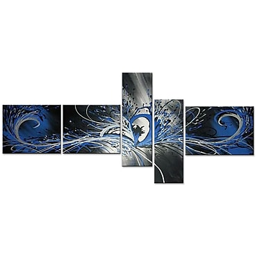 Designart Abstract Tree Painting Hand-Painted, 5 Piece Canvas, (OL1045)