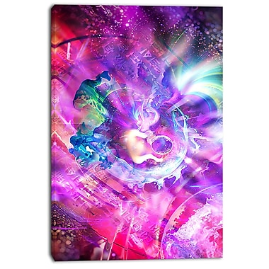 Designart Whimisical Womb Street Art Canvas Artwork, (PT3601-24-40)
