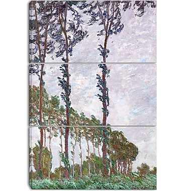 Designart Claude Monet, Wind Effect Series Canvas Art Print, 3 Panels, (PT4253-3P)