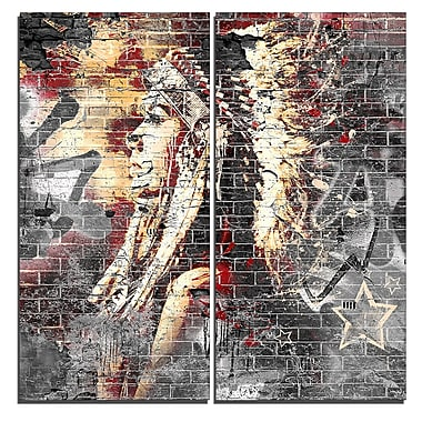 Designart Native Street Art Canvas Artwork, (PT3638-40-40)