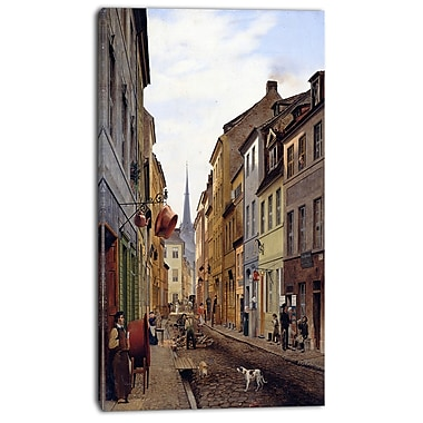 Design Art Eduard Gaertner, ParocialstraBe Canvas Art Print