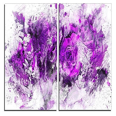 Designart Royal Purple Flowers Canvas Art Print, 40