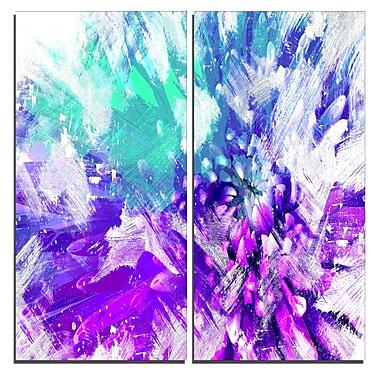 Designart – Art imprimé sur toile, fleur aux teintes bleues, 40 larg. x 40 haut.(po), 2 panneaux, (PT3422-1-40-40)