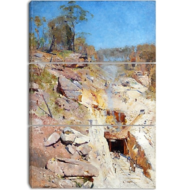 Designart Arthur Streeton, Fires On Canvas Art Print, 3 Panels, (PT4158-3P)