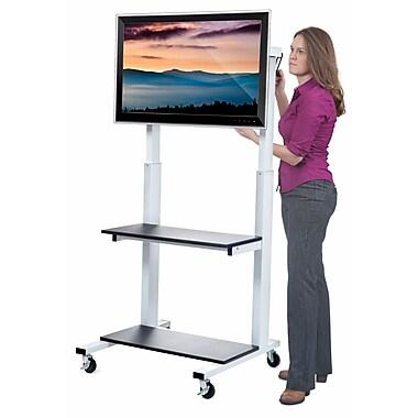 Luxor Crank Adjustable Flat Panel TV Cart, Black, (CLCD)