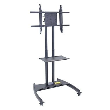 Luxor Adjustable Flat Panel Cart with Swivel Mount, Black, (FP3500)