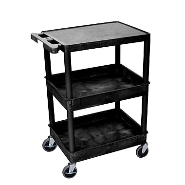 Luxor 3-Shelf Tub Cart, (STC211-B)