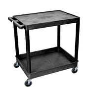 Luxor Flat Top/Tub Bottom Shelf Cart, Black, (TC21-B)