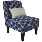 Fox Hill Trading Langford Slipper Chair w/ Pillow; Mariner Blue