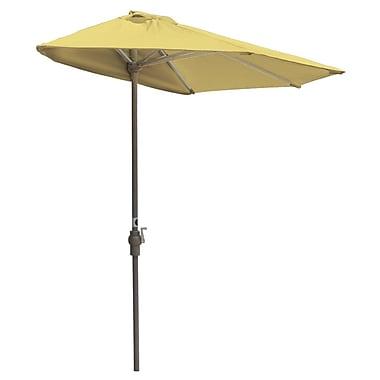 Blue Star Group Off-The-Wall Brella 9' Market Umbrella; Yellow - Sunbrella