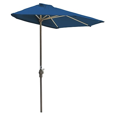 Blue Star Group Off-The-Wall Brella 9' Market Umbrella; Blue - Sunbrella