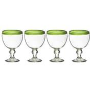 Global Amici El Gordito 26 Oz. Glass (Set of 4); Green