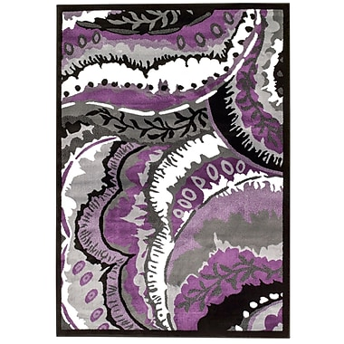 Bungalow Rose Alize Modern Purple Area Rug; Rectangle 2' x 3'4''