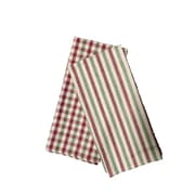 Textiles Plus Inc. Plain Weave Checker & Stripe Kitchen Towel (Set of 4)