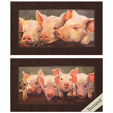 Propac Images Pig Big 2 Piece Framed Graphic Art Set
