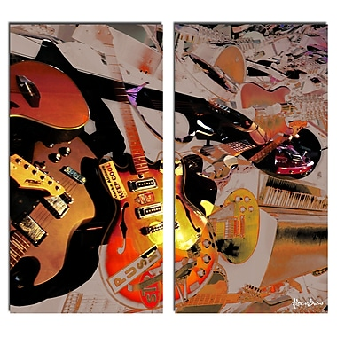 Ready2hangart The Color of Jazz XX' 2 Piece Graphic Art on Canvas Set